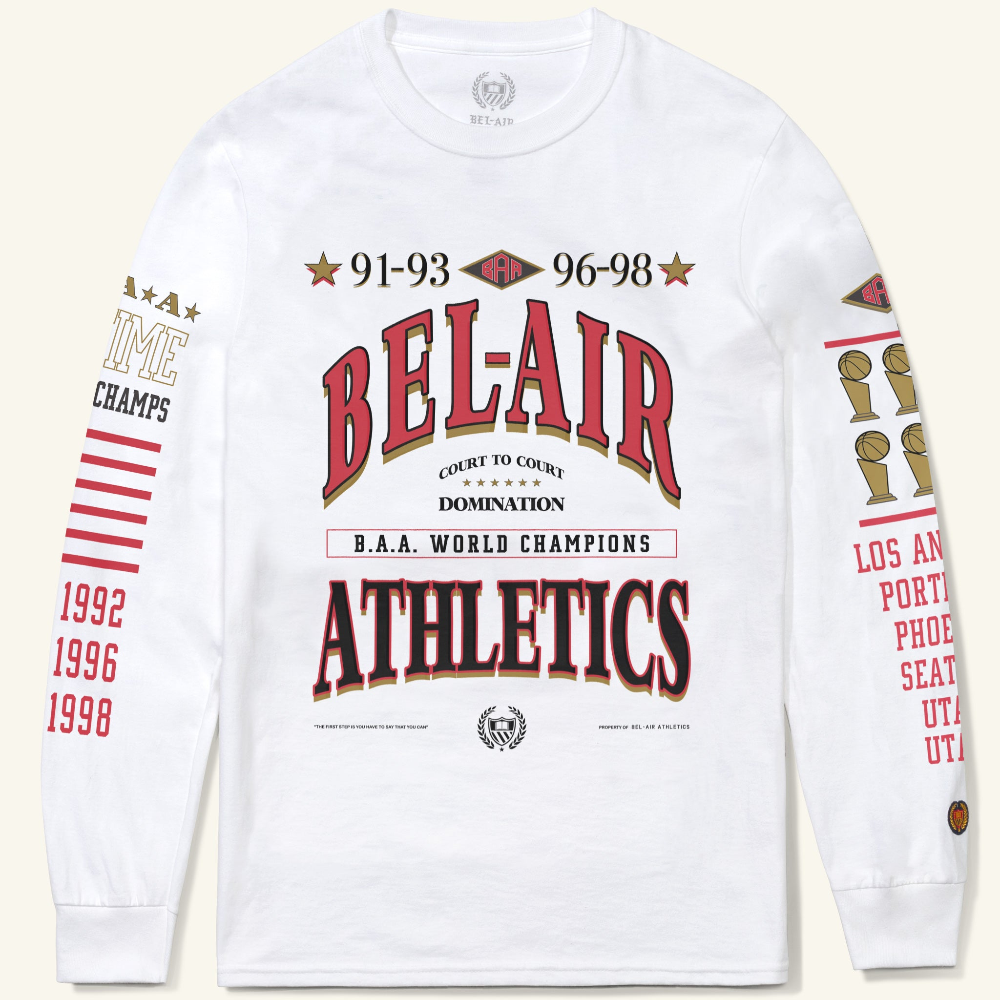 Six Time Long Sleeve Tee White Image  #1
