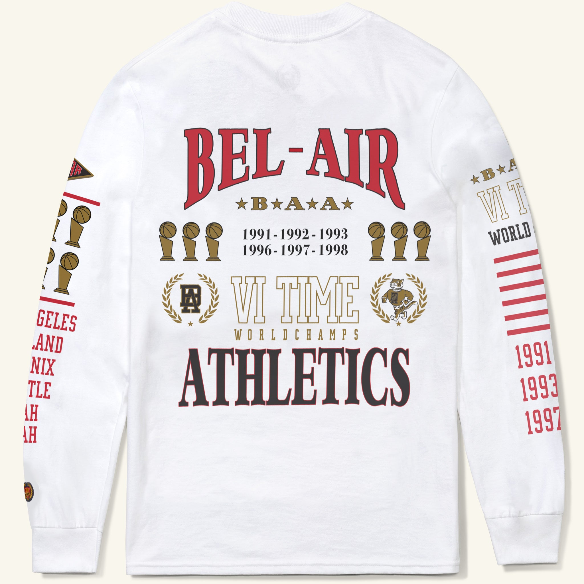Six-Time Long-Sleeve Tee, White
