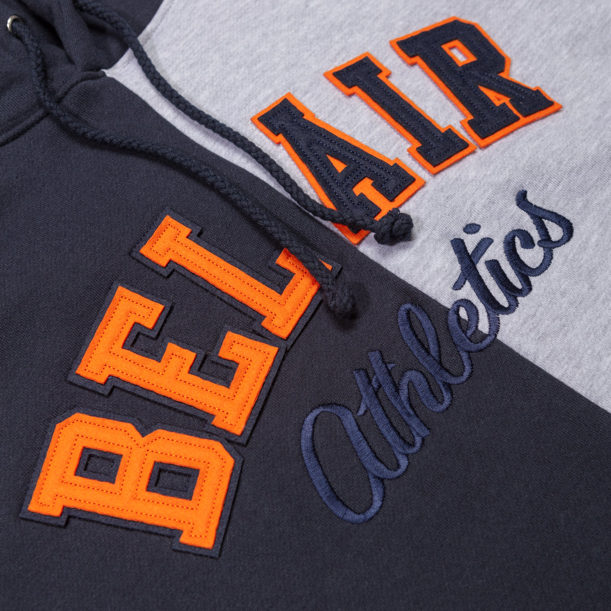 Split Time Hooded Sweatshirt Navy Image  #4