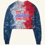 Tall Stack Cropped Long Sleeve Tee Banded Tie Dye Image  #1