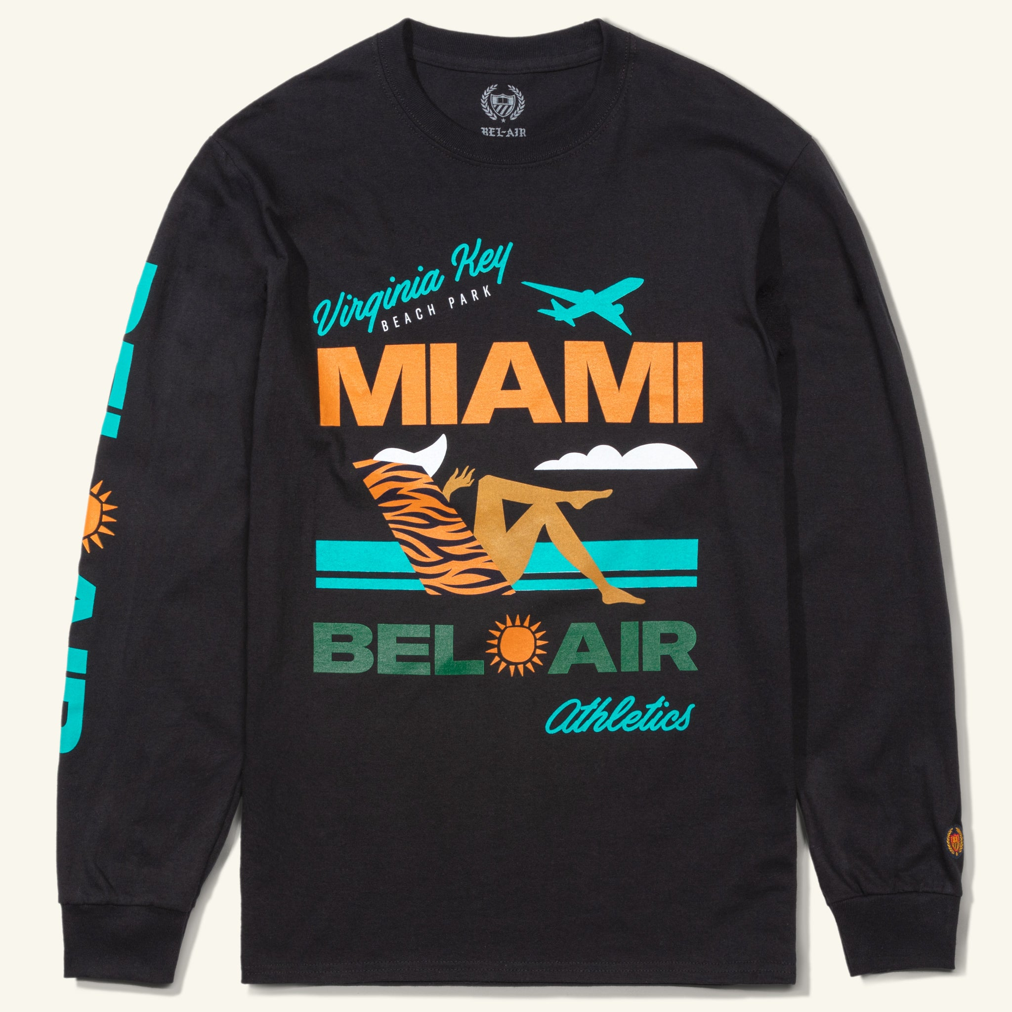 Virginia Key Beach Long Sleeve Tee, Black