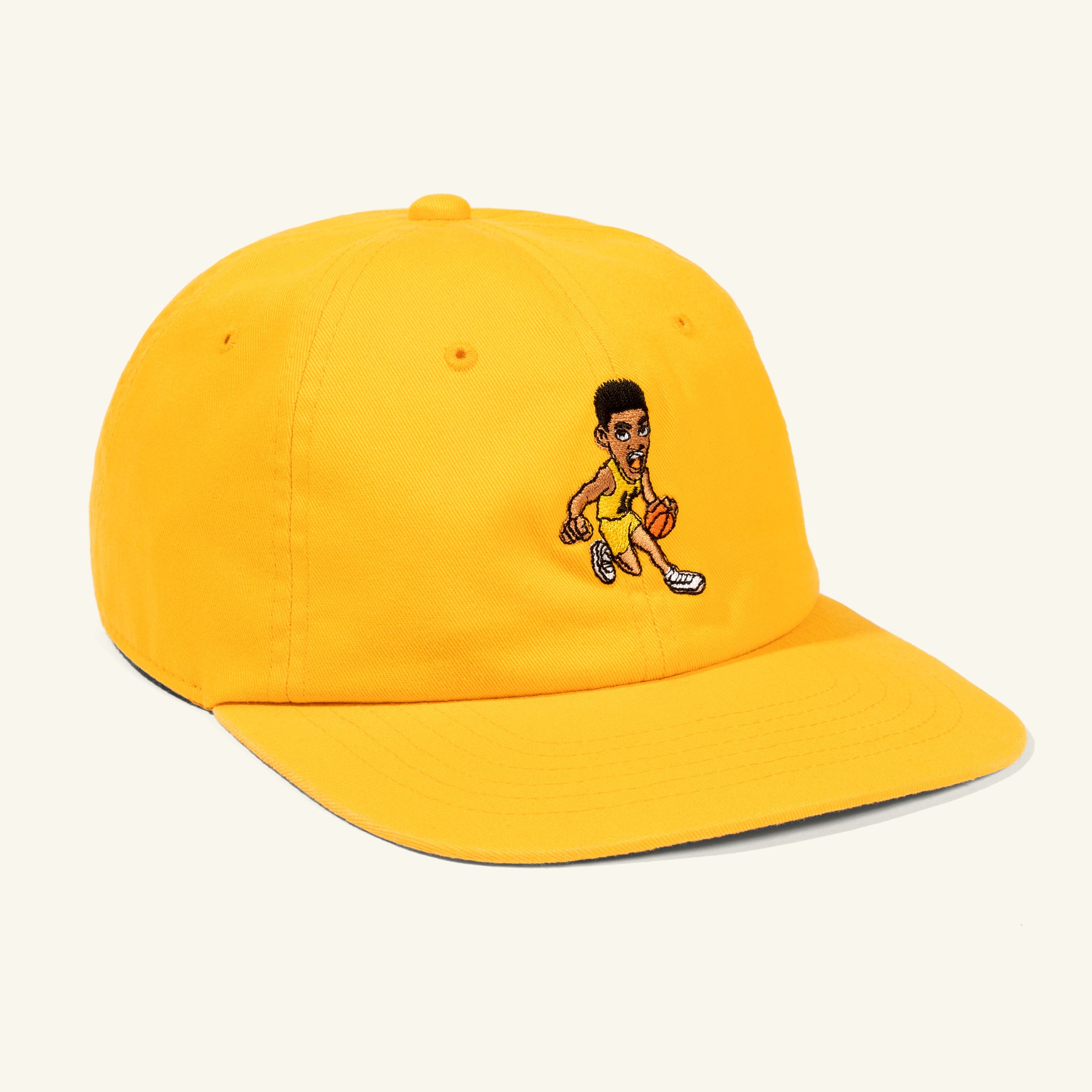 Fresh Prince Dribble Drive 6 Panel Hat Gold Image  #1