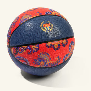 Money Ball Basketball Navy Paisley Image  #1