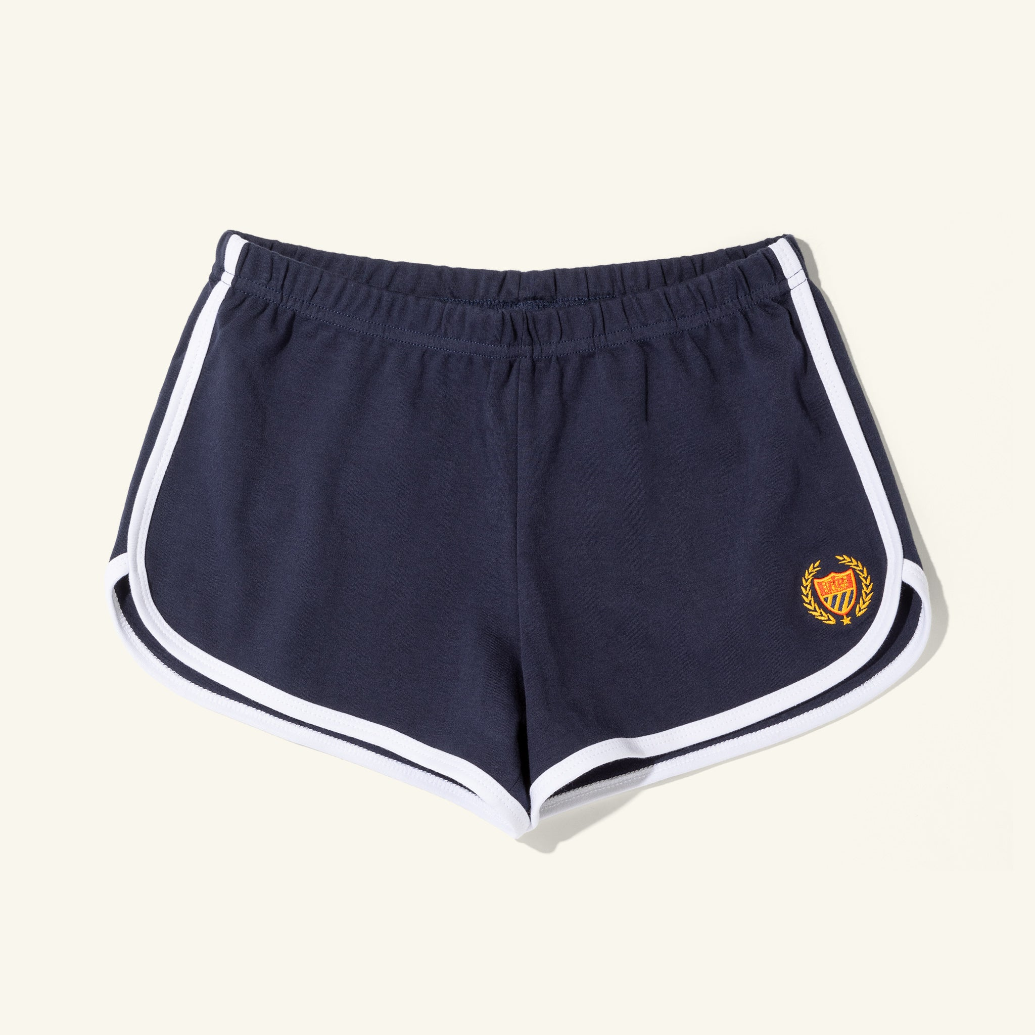 Womens Gym Shorts Navy Image  #1