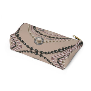 """Duchess Tan Hue"" by MARIELA Small MakeupAccessory Pouch w T-bottom"