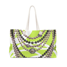 """Duchess Neon Lime"" by MARIELA Gym/Shopping/Weekender Bag"