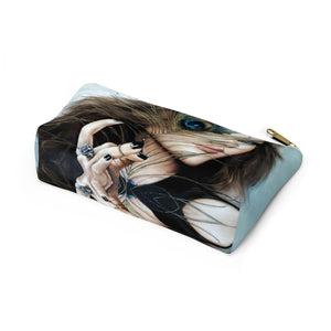 """Mayil Glow"" by MARIELA Small Makeup/Accessory Pouch w T-bottom"
