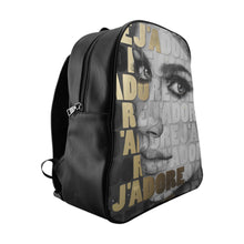 """J'Adore Black White Gold"" by MARIELA Vegan Leather Fashion Backpack"