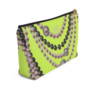 """Duchess Neon Lime"" by MARIELA Small Makeup/Accessory Pouch w T-bottom"