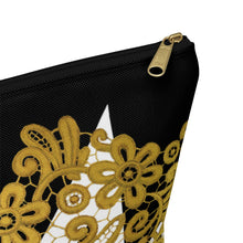 """Gilded Crown"" by MARIELA Large Makeup/Accessory Pouch w T-bottom"