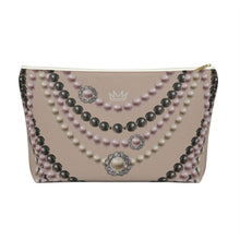 """Duchess Tan Hue"" by MARIELA Large Makeup/Accessory Pouch w T-bottom"