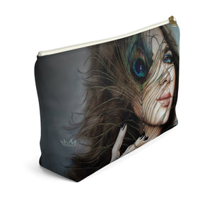 """Mayil Dusk"" by MARIELA Large Makeup/Accessory Pouch w T-bottom"