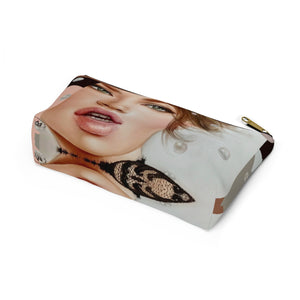 """Spark"" by MARIELA Small Makeup/Accessory Pouch w T-bottom"