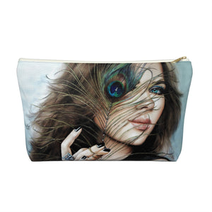 """Mayil Glow"" by MARIELA Large Makeup/Accessory Pouch w T-bottom"