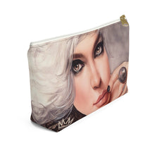 """Platina"" by MARIELA Small Makeup/Accessory Pouch w T-bottom"