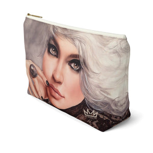 """Platina"" by MARIELA Large Makeup/Accessory Pouch w T-bottom"