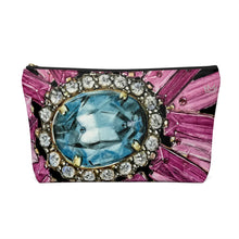 """Bestowed Black"" by MARIELA Large Makeup/Accessory Pouch w T-bottom"