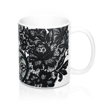 """Black Lace"" by MARIELA Mug 11oz"