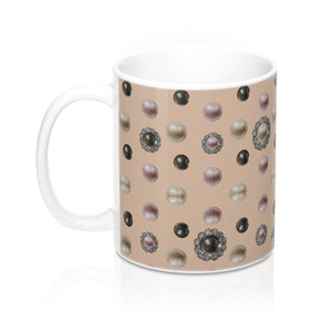"""Coquette Pink"" by MARIELA Mug 11oz (ORDER BY DEC 14TH FOR DELIVERY BEFORE X-MAS, USA only)"