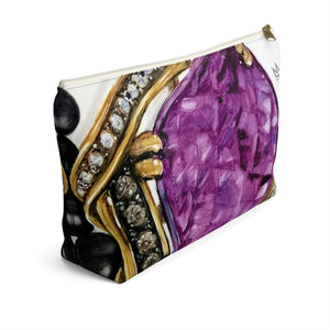 """Gentle Power"" by MARIELA Large Makeup/Accessory Pouch w T-bottom"