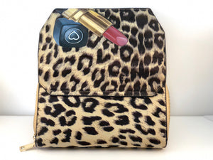 """Glam Wild"" by MARIELA Hand Painted Leopard Crossbody Envelope Purse"