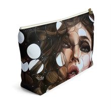 """Leading Dots"" by MARIELA Large Makeup/Accessory Pouch w T-bottom"