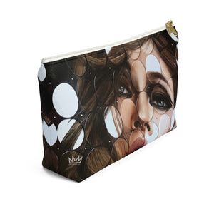 """Leading Dots"" by MARIELA Small Makeup/Accessory Pouch w T-bottom"