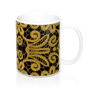 """Gilded Black"" by MARIELA Mug 11oz"