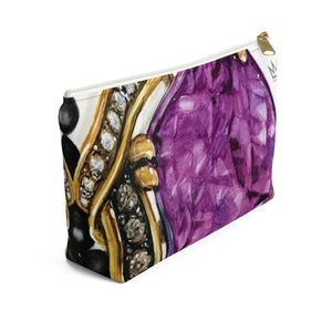 """Gentle Power"" by MARIELA Small Makeup/Accessory Pouch w T-bottom"
