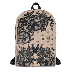 """Black Lace Amber"" by MARIELA Backpack"