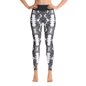 """Vintage White"" by MARIELA Fashion Leggings"
