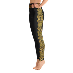 """Gilded Black"" by MARIELA Fashion Leggings"