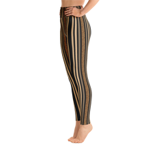 """Black Wild Barcode"" by MARIELA Fashion Leggings"