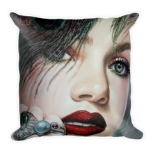 """Blushed"" by MARIELA, Square Pillow"