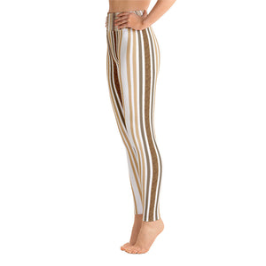 """White Wild Barcode"" by MARIELA Fashion Leggings"