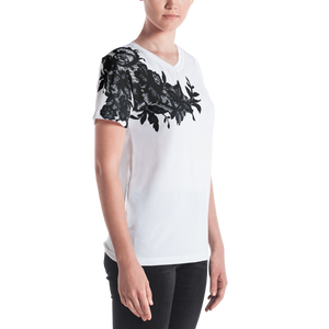 """Black Lace"" by MARIELA Women's V-neck"