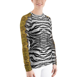 """Gilded White Tiger"" by MARIELA Athletic Shirt"
