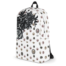 """Black Lace Coquette"" by MARIELA Backpack"