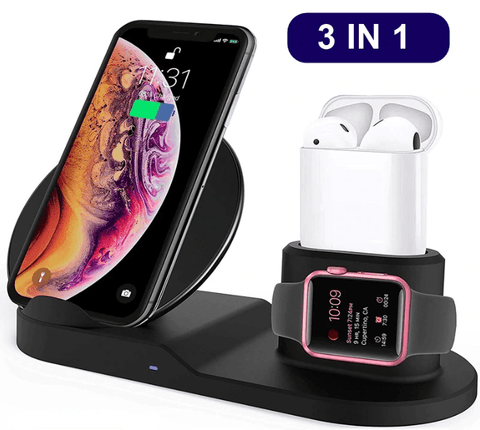 3 in 1 Fast-Charger - Kabelloses Laden