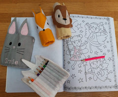 Felt animal pencil wraps