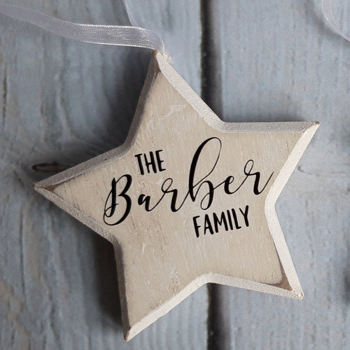 Personalised Wooden Christmas Decorations - Little Luna Creations