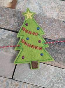 Felt Christmas Bunting - Little Luna Creations