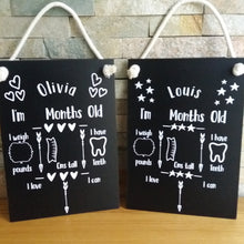 Load image into Gallery viewer, Baby Milestones Chalkboards - Little Luna Creations