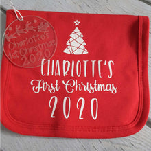 Load image into Gallery viewer, Personalised 'First Christmas' bibs - Little Luna Creations