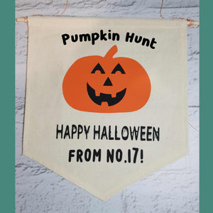 Personalised Halloween Banner - Little Luna Creations