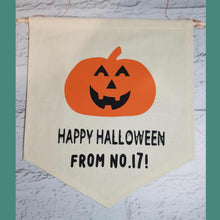 Load image into Gallery viewer, Personalised Halloween Banner - Little Luna Creations