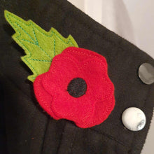 Load image into Gallery viewer, Felt Poppy Brooch - Little Luna Creations