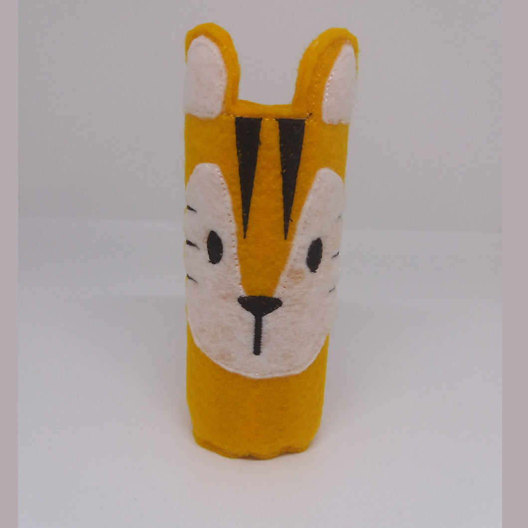 Tiger Pencil Wrap with Colouring Pencils - Little Luna Creations