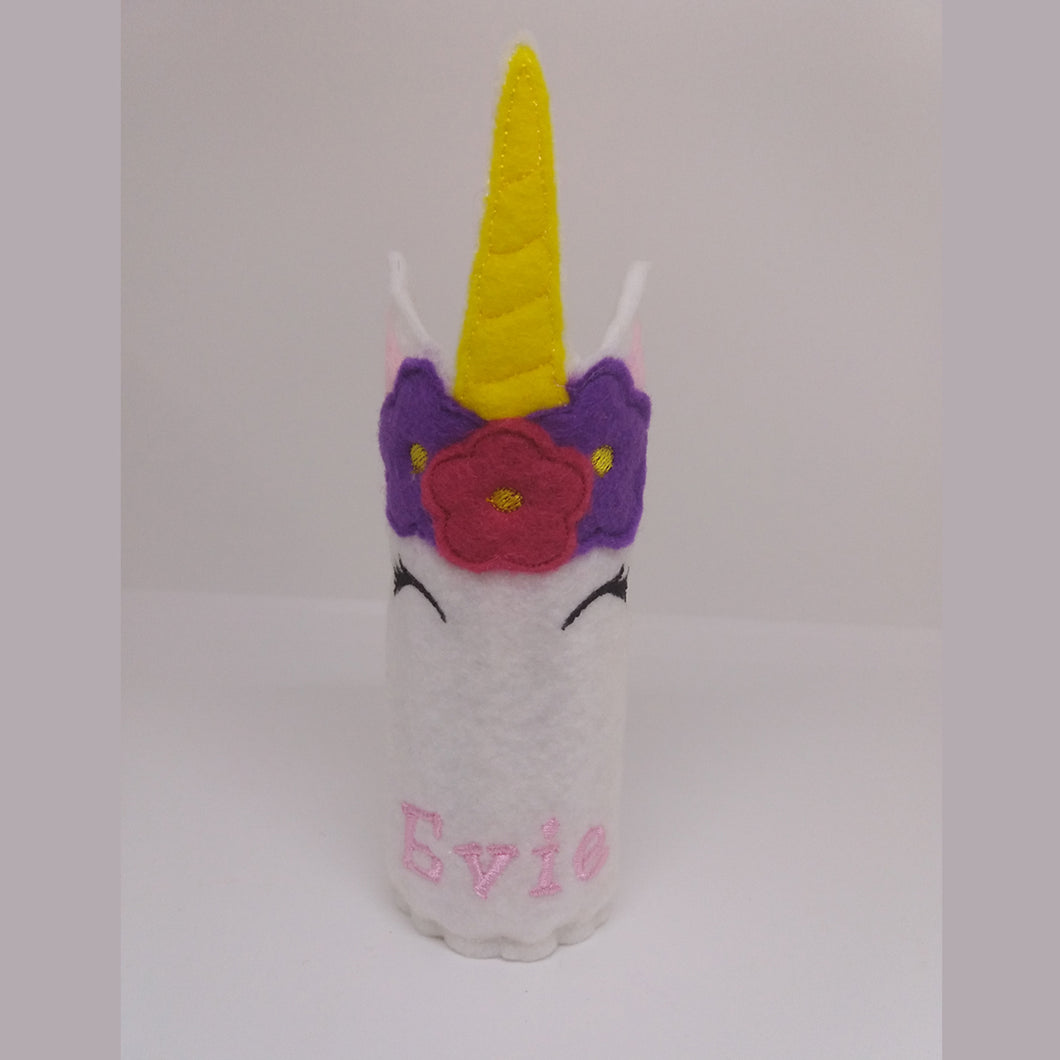 Unicorn Pencil Wrap with Colouring Pencils - Little Luna Creations