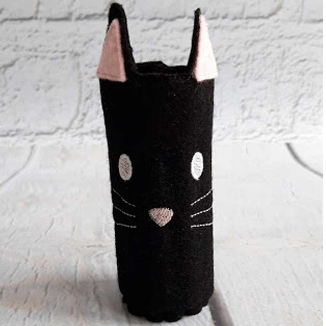 Cat Pencil Wrap with Colouring Pencils - Little Luna Creations